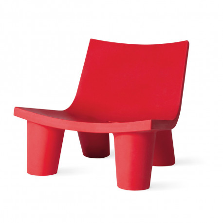 Fauteuil Low Lita, Slide Design rouge
