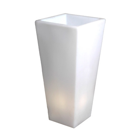 Grand Y-Pot Light, Slide Design blanc Hauteur 150 cm
