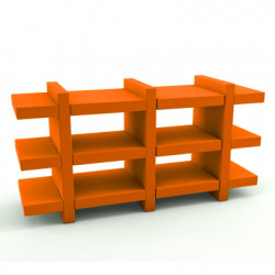 Etagère Booky Médium Slide orange