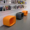 Tabouret/Table basse Lasy Bones, Slide Design orange