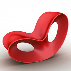 Rocking chair design Voido, Magis rouge orange mat Mat