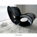 Rocking chair design Voido, Magis noir laqué brillant, glossy