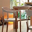 Chaise design Steelwood Magis blanc, bois clair