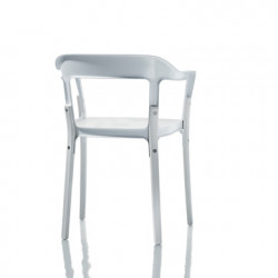 Chaise design Steelwood Magis blanc