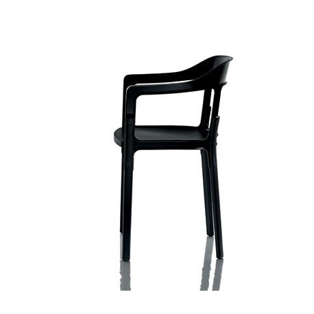 Chaise design Steelwood Magis noir