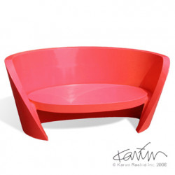 Canapé design Rap, Slide design rouge