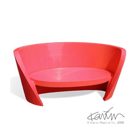 Canapé design Rap, Slide design rouge
