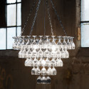 Grand Lustre verres à vin, Vino Glass, Leitmotiv chrome, transparent Taille XL