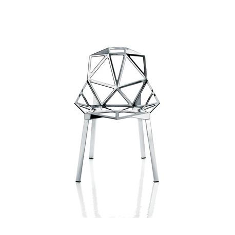 Chaise One empilable, Magis aluminium poli