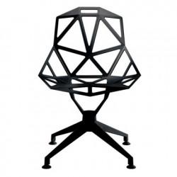 Chaise design One étoile pivotante Magis noir