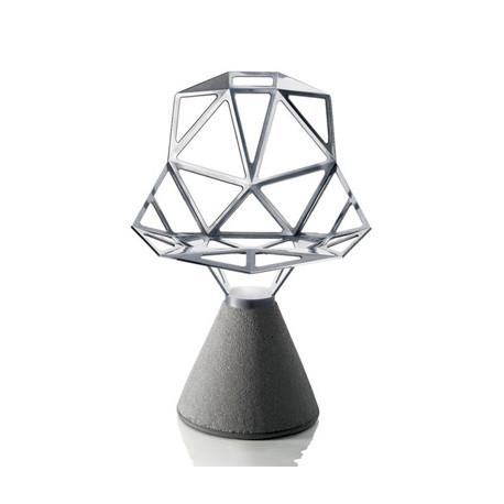 Chaise One pivotante, Magis aluminium poli, base gris béton verni