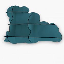 Etagère Nimbus, Ibride bleu pétrole