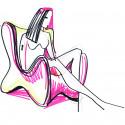 Fauteuil design Doux, Vondom rouge
