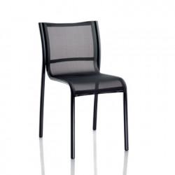 Chaise Paso Doble, Magis structure verni noir, assise noir