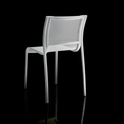 Chaise Paso Doble, Magis structure verni blanc, assise blanc