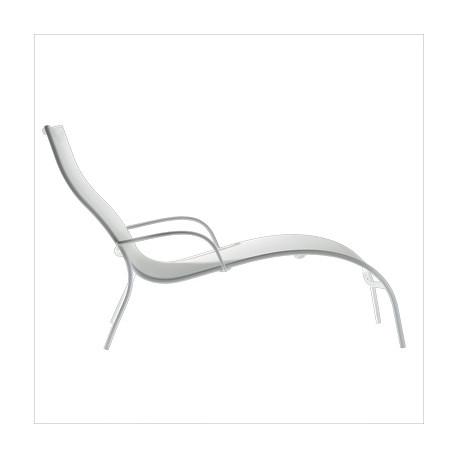 Chaise longue Paso Doble, Magis structure verni blanc, assise blanc