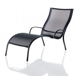 Chaise longue Paso Doble, Magis structure verni noir, assise noir
