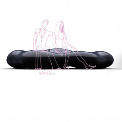 Banquette Design Lava, Vondom noir