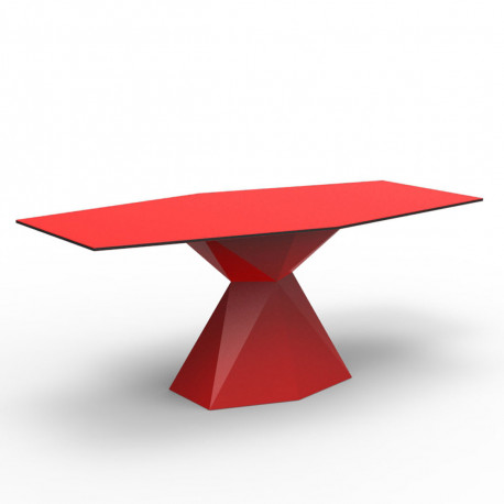 Table Vertex L180 cm, Vondom rouge