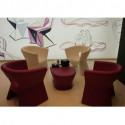 Table/Tabouret design Pal, Vondom gris