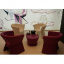 Table/Tabouret design Pal, Vondom rouge
