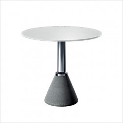 Table One, Magis blanc, structure argent diamètre 79 cm