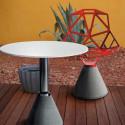 Table One, Magis blanc, structure argent diamètre 79 cm