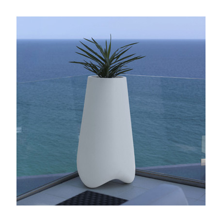 Pot de jardin Vlek diamètre 55 cm, Vondom blanc Mat