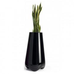 Pot de jardin Vlek diamètre 55 cm, Vondom noir laqué Laqué
