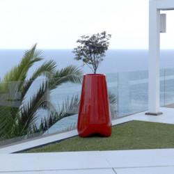 Pot de jardin Vlek diamètre 55 cm, Vondom rouge laqué Laqué