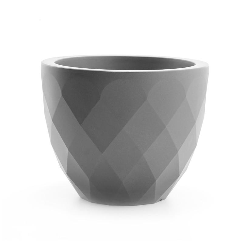 pot vases s vondom gris acier double paroi cerise sur. Black Bedroom Furniture Sets. Home Design Ideas