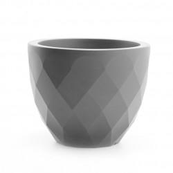 Pot Vases S, Vondom gris acier avec réserve d'eau