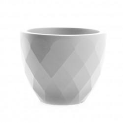Pot Vases blanc, avec réserve d\'eau, Vondom, diamètre 55 cm x hauteur 45 cm
