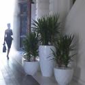 Pot Vases S, Vondom blanc avec réserve d'eau
