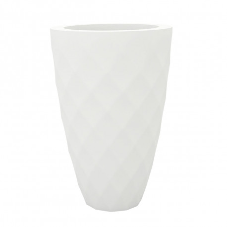 Pot Vases blanc, avec réserve d'eau, Vondom, diamètre 65 cm x hauteur 100 cm