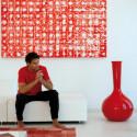 Vase Chemistube, Vondom rouge Taille S