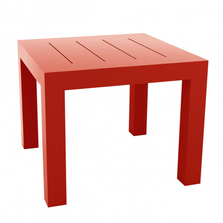 Table carrée Jut, Vondom rouge