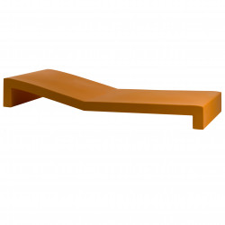 Chaise longue Tumbona Jut, Vondom orange
