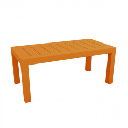 Table rectangulaire Jut L180cm, Vondom orange