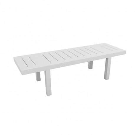 Table rectangulaire Jut L280cm, Vondom blanc