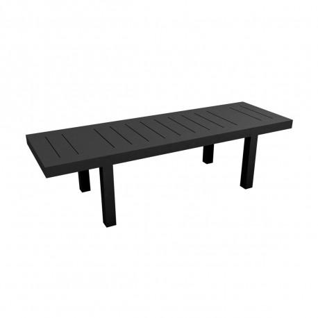 Table rectangulaire Jut L280cm, Vondom noir