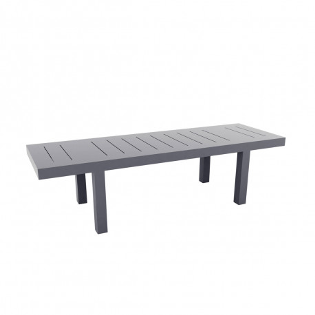 Table rectangulaire Jut L280cm, Vondom gris
