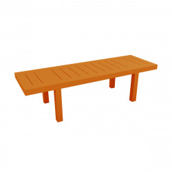 Table rectangulaire Jut L280cm, Vondom orange