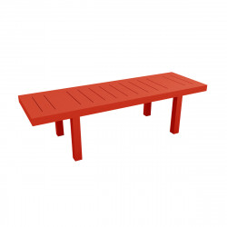 Table rectangulaire Jut L280cm, Vondom rouge