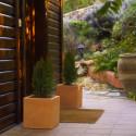 Pot Cubo 50 cm, simple paroi, Vondom gris acier
