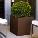 Pot Cubo 50 cm, simple paroi, Vondom marron