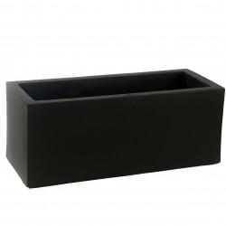 Jardinière design rectangulaire 80 cm noir, Jardinera 80, Vondom, simple paroi, Longueur 80x30xH30 cm