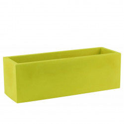 Jardinière design rectangulaire 80 cm vert pistache, Jardinera 80, Vondom, simple paroi, Longueur 80x30xH30 cm