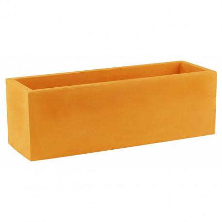 Jardinière rectangulaire grande taille Jardinera orange, Vondom, simple paroi, Longueur 120x50xH50 cm