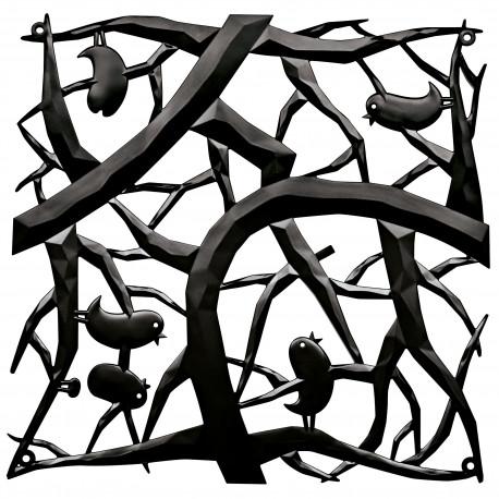 20 carrés séparations design PIP, Koziol noir opaque